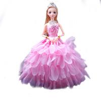 芭比娃娃单个装婚纱换装衣服洋娃娃3D真眼儿童女孩玩具批发环保料 30厘米12关节3真眼环保料