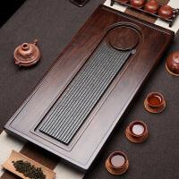 黑檀木实木茶盘 整块原木茶台 家用小茶台简约乌金石茶海茶具茶盘