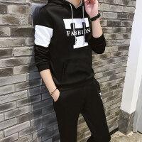 卫衣套装春季男士连帽运动韩版修身休闲运动套装青少年晨跑两件套