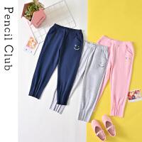 【3件2折:39.8】铅笔俱乐部童装2020夏装新款女童休闲裤中大童长裤儿童洋气裤子