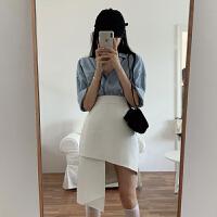 白色半身裙女�O�感不��t裙高腰�@瘦a字短裙秋季2020新款裙子潮