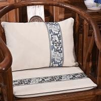 定制沙发靠垫新中式抱枕圈椅坐垫餐椅垫子靠枕罗汉床坐垫