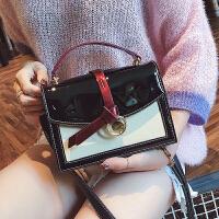手提小包包女2018夏天百搭上新韩版女包镜面ins超火包漆皮斜挎包