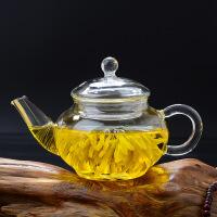白领公社 茶壶 高硼硅玻璃加厚手工耐热透明泡茶壶不锈钢过滤内胆花茶壶个人用茶具 225ml