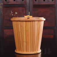 竹制茶水桶古木桶茶渣桶�h保桶垃圾桶 功夫茶具茶�P接水桶