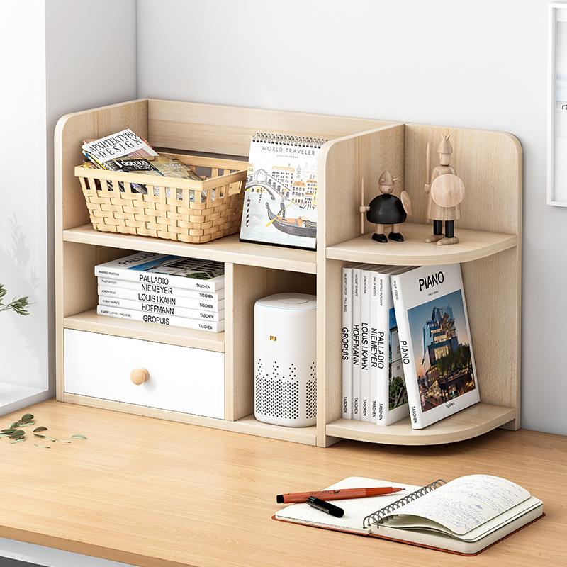 【限时抢购】创意电脑桌上书架伸缩桌面书柜儿童简易置物架小型办公收纳架 支持* 多色选择 加长更牢固