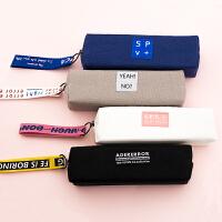 小清新笔袋帆布可爱小学生中学生大学生文具袋男女生ins韩国创意个性搞怪铅笔盒