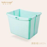 加大号婴儿浴盆儿童洗澡盆折叠沐浴桶新生儿可坐宝宝洗澡桶泡澡桶