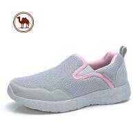 骆驼牌女鞋 春秋网布女运动休闲鞋健步鞋 防滑软底老人妈妈鞋