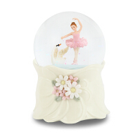 JARLL水晶球音乐盒八音盒芭蕾舞女孩生日情人节礼物创意旋转雪花 芭蕾舞女孩(顺丰)