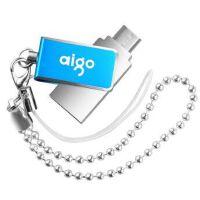 原装 爱国者(aigo)U286 彩蝶金属手机U盘 蓝色 16G 32G 64G 双头OTG 手机 平板电脑两用U盘