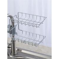 水龙头置物架厨房抹布沥水架家用刷碗布沥水篮免打孔储物水槽挂架