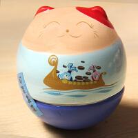 可爱萌物招财猫不倒翁创意家居摆设陶瓷开业摆件创意生日结婚礼物