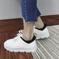 韩版小白鞋圆头坡跟板鞋秋冬女鞋2017新款单鞋时尚百搭学生女士