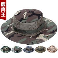 迷彩帽男帽奔尼帽军版平顶迷彩帽子男特种兵作训帽遮阳圆边帽