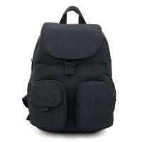 防水尼龙背包时尚韩版牛津双肩包中大学生书包旅行包轻便 黑色 黑色