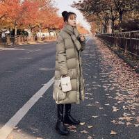 棉袄学生外套女冬装潮时尚小清新长款棉衣