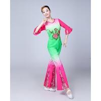 中国风18扇子舞演出服民族秧歌服装中老广场舞套装舞蹈女夏