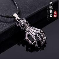 创意手形复古带绳项链 男女通用钛钢项链 韩国饰品项链 特价