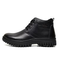 棉鞋男冬季棉皮鞋真皮男士保暖冬鞋加绒圆头羊毛加厚大码冬天鞋子