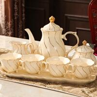 欧式咖啡杯套装家用英式下午茶茶具套装茶杯陶瓷杯具咖啡套具整套