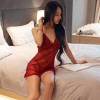 性感情趣内衣激情套装sm透视装女式蕾丝吊带V领睡裙制服小胸衣服
