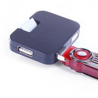 方形分线器集线器4口HUB高速拓展 一拖四USB多接口笔记本