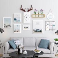 家居生活用品北欧风格餐厅墙面装饰挂件客厅墙壁墙上创意挂饰卧室墙饰鹿头壁挂