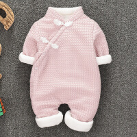 新生儿9女宝宝连体衣秋冬装0一1岁婴儿衣服秋装公主爬服6-12个月3
