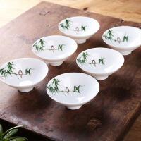 景德镇青花瓷手绘功夫茶具配件陶瓷茶杯品茗杯家用