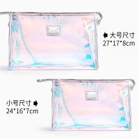 透明防水洗漱包可爱少女心大容量小清新便携多功能韩国果冻化妆包