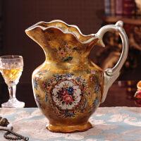 欧式奢华复古落地花瓶摆件客厅电视柜装饰品插花创意玄关家居摆设