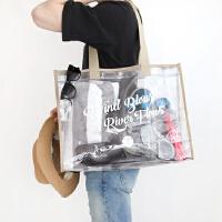 沙滩包透明防水包大容量 果冻包游泳收纳袋旅行手提袋