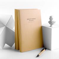 广博(GuangBo)5本装60张B5牛皮纸记事软抄本笔记本子 缝线文具本GBR30005
