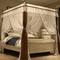 蚊帐三开门1.8m1.5米床双人家用落地加厚加密支架宫廷公主风2米