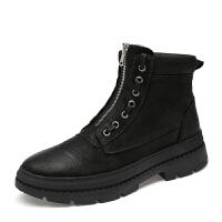 冬季马丁靴雪地男鞋牛皮防水高帮休闲皮鞋运动潮鞋子英伦加绒棉鞋