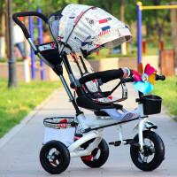 儿童三轮车折叠自行车宝宝婴儿手推车1--6脚踏童车钛空轮