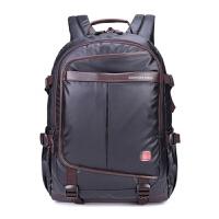 双肩包15.6寸17.3寸电脑包笔记本包瑞士商务旅行包背包书 黑色 15寸