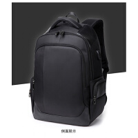 男士背包双肩包男商务包包中学生书包多功能电脑包旅行包水 黑色 1283
