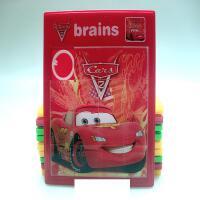 ?大号移动拼板卡通动漫拼图塑料儿童怀旧玩具滑动拼版? 大号红色车 1张