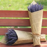 薰衣草干花束客厅家居装饰真花去异味女友礼物花束礼盒 干树枝