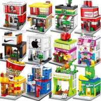 兼容乐高积木男孩子益智力拼装城市街景玩具儿童拼插迷你房子商店
