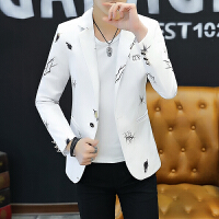 新款西服韩版休闲小西装青年男上衣修身潮流春秋帅气男士外套西服