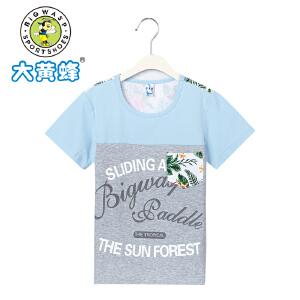 大黄蜂童装 儿童短袖T恤官方旗舰店2018夏季新款中大童夏装男童