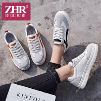 ZHR2018秋季新款韩版百搭运动鞋街拍小白鞋厚底单鞋平底真皮女鞋