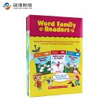 原版进口绘本 Word Family Readers 17册盒装 儿童自然拼读绘本故事书 SCHOLASTIC出版社