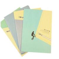 笔记本32k车线本创意可爱日记本卡通记事本文具软抄本子 4本