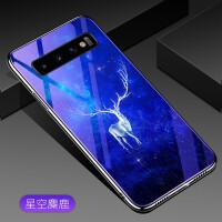 三星S10手机壳S10 保护套G9730/50创意个性电镀TPU软边蓝光玻璃壳时尚男女新款潮 星空麋鹿(6.1英寸)三