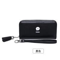 女士手拿钱包2018新款女韩版潮个性学生拉链多功能长款大容量皮夹