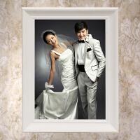 欧式创意画框12寸16寸24寸30寸36寸实木婚纱照相框挂墙拼图框定做 白色